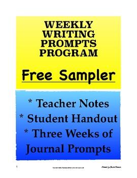Weekly Journal Prompts Program FREE SAMPLER