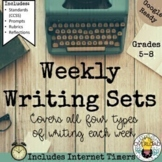Weekly Writing Sets:  Google Slides daily practice over th