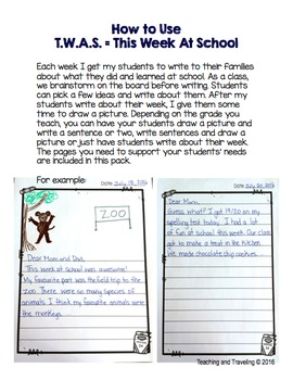 Weekly Writing - This Week At School