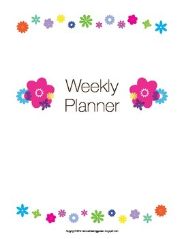 Weekly and Daily Planner/ Calendar