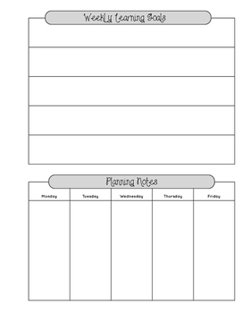 Weekly and Daily Planning Template