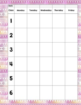 Weekly and Monthly Planning Templates for Art Teachers and other Specials