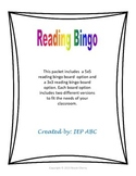 Weekly and Monthly Reading Bingo Logs