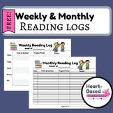 Weekly and Monthly Reading Logs FREE