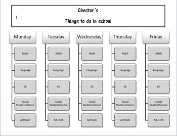 Weekly format Daily Task List Black and White