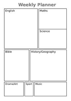 Weekly homeschool planner