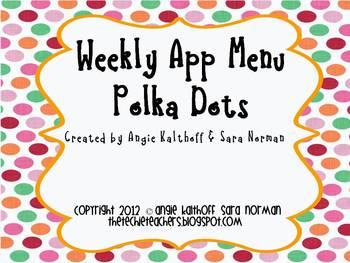 Weekly iPad & iPod App Menu: Polka Dot
