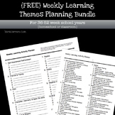 Weekly learning theme activity planner printable (36-52 week school year)