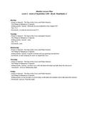 Weekly lesson plan no 3 - realidades 1 - unit PE