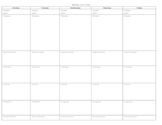 Weekly lesson plan template for reading or writing