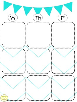 Weekly lesson planner for teacher binder