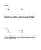 Weekly math reviews