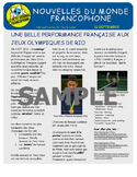 Weekly news summaries for French students: September 11, 2016