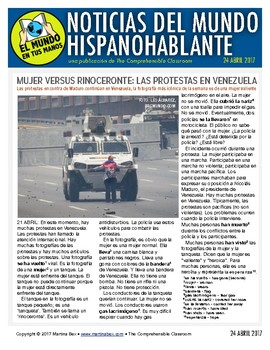 Weekly news summaries for Spanish students: April 24, 2017