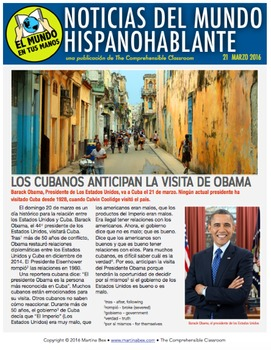SUBSCRIPTION: Weekly news summaries for Spanish students; April-May 2016