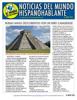 Weekly news summaries for Spanish students: May 16, 2016