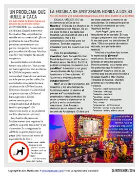 Weekly news summaries for Spanish students: November 6, 2016
