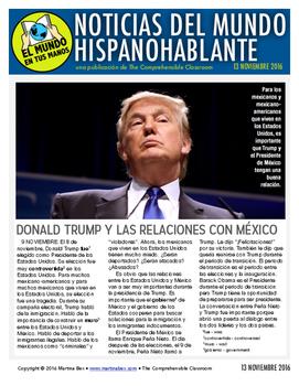 Weekly news summaries for Spanish students: November 13, 2016
