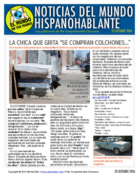 Weekly news summaries for Spanish students: October 23, 2016