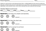 Weekly or Daily Behavior Report