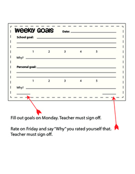 Weekly or Monthly Goals