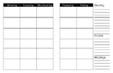 Weekly planner: 6 periods