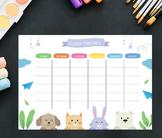 Weekly planner Printable,Back to school printable Planner,