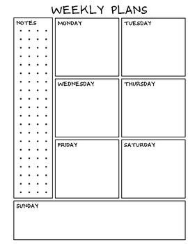 graphic regarding Weekly Planning Sheets titled Weekly planner and regular monthly sheets