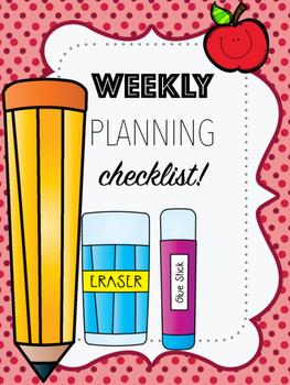 Weekly planning checklist!