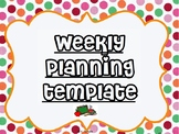 Weekly planning overview template - Editable PowerPoint