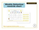 Weekly reward chart_visual aids, SEN, Autism, Toddler, behaviour, special needs