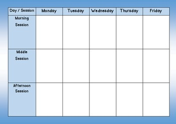Weekly school lesson planner for teachers