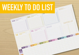 Weekly to do list / planner