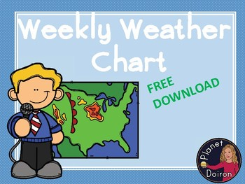 Weekly weather chart and symbols FREE download