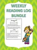 Weekly Reading log Bundle/ Reading Assessment/Reading Resp
