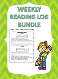 Weekly Reading log Bundle/ Reading Assessment/Reading Response Sheet
