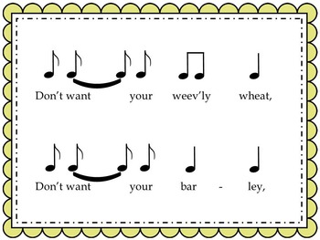 Weevily Wheat - a game song for syncopation
