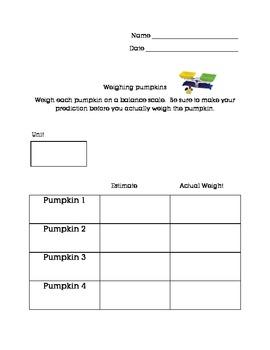 Weighing Pumpkins