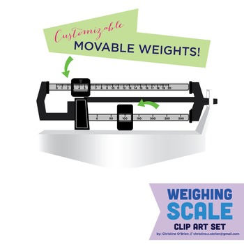 Weighing Scale Clip Art Set - Customizable pieces!