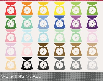 Weighing Scale Digital Clipart, Weighing Scale Graphics, W