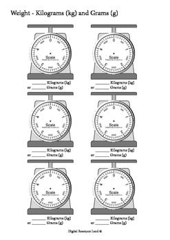 Weight Comparisons between Kilogram and Gram