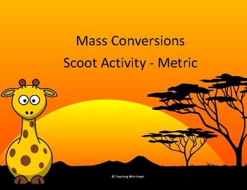 Mass Conversions Scoot Activity/Task Cards (Metric System)