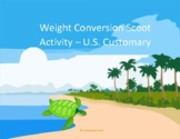 Weight Conversions Scoot Activity/Task Cards (U.S. Customary)