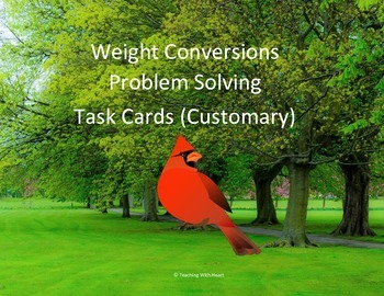 Weight Conversions Word Problems Task Cards/Scoot Activity (Customary)