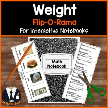 Weight Vocabulary Interactive Notebook