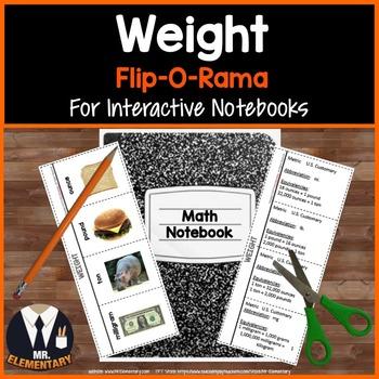 Weight Vocabulary Interactive Notebook