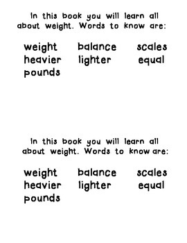 Weight For Me:  An Interactive Reader about Weight