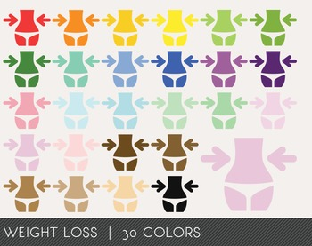 Weight Loss Digital Clipart, Weight Loss Graphics, Weight
