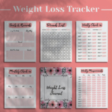 Weight Loss Tracker - Printable Weight Loss Journal - 100 Pounds Lost Chart