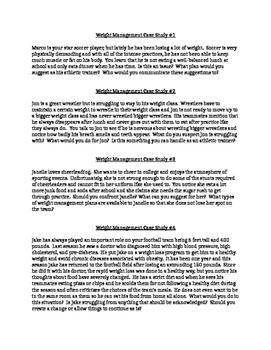 Weight Management in Athletes Case Studies